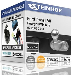 NEUF-ATTELAGE-solide-FORD-TRANSIT-VII-de-2006-2013-FAISCEAU-SPECIAL-13-broches