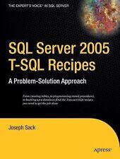 SQL Server 2005 T-SQL Recipes: A Problem-Solution Approach (A Problem -ExLibrary