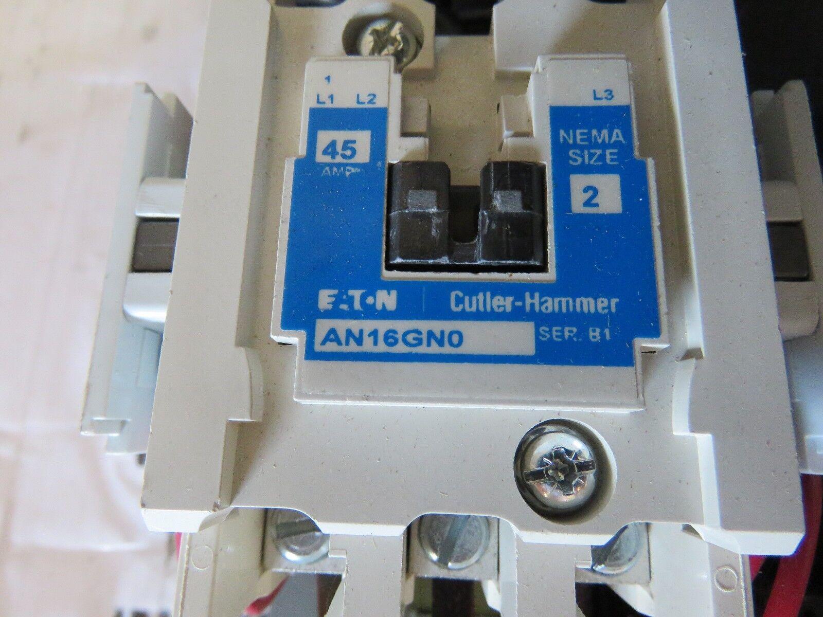 Eaton Cutler Hammer Size 2 Starter 120v Coil 3r Enclosure Hand off ...