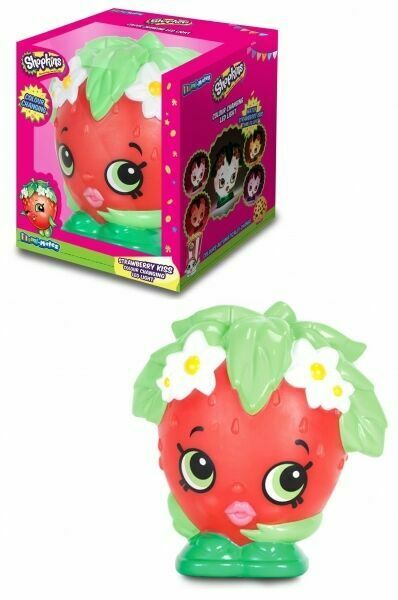 Shopkins Strawberry Kiss Colour Changing Childern Bedroom Night Light Kids LED