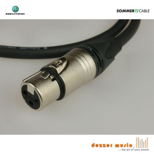 2x 0,5m sym XLR Kabel Sommer Cable 3pol...High End..klar++ Carbokab Neutrik XX