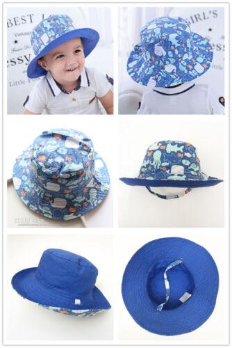 Kids Toddler Sun Hat 8-12mth Boy Girl Spring Summer Cotton Bucket Fisherman Caps