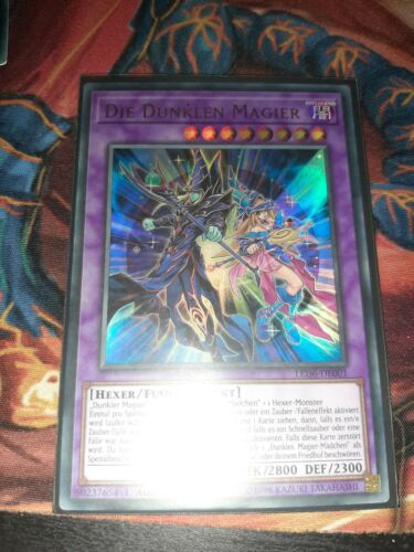 "Ultra Rare Near Mint 1 YUGIOH! Auflage! /""Die Dunklen Magier/"" LED6-DE001"