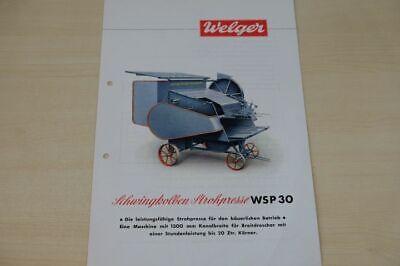 Motivated 200843 Prospekt 06/1950 Year-End Bargain Sale Strohpresse Wsp 30 Welger