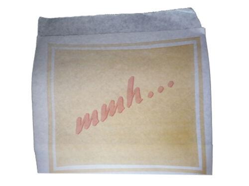 4000 Hamburger Tüten  Snackbeutel gewachst MMH 16x15,5 cm 2stg offen 128161