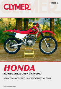 clymer repair service shop manual honda xl125s 185s 200r xr185 200 r rh ebay com  honda tlr200 reflex wiring diagram