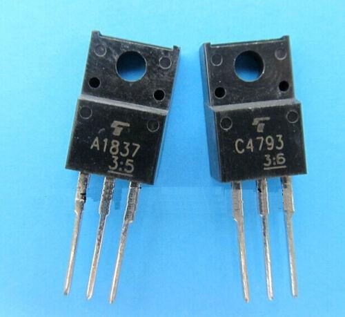 5pairs//10PCS 2SA1837 /& 2SC4793 A1837 C4793 Transistor NEW