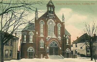 London Ontario Canada Talbot St Baptist Church Old Postcard View Ebay