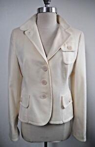 6 Blend Jacket Ivory Akris White Blazer Worn Punto Size Winter Wool Once Angora aTWwvnfqYw