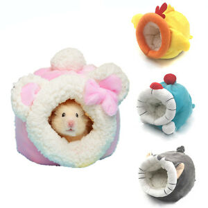 Small Animal Pet Hamster House Nest Rat Mouse Winter Warm Bed Hedgehog Mat Pad
