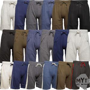MYT-Mens-Plain-Zip-Pocket-Shorts-Cotton-Fleece-Sweat-New-Designs-Modern-S-2XL