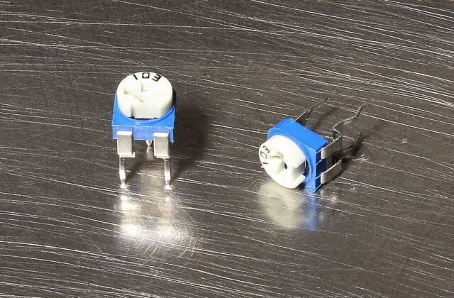 50 Pcs Potentiometer 10k Ohm Variable Vertical Trimmer Resistor Blue USA Seller