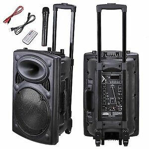 Yescom 28spk001 1012 06 12 Inch 1200w Portable Active Pa Speaker Black