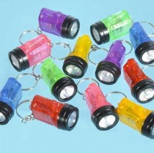100 Flashlight Key Chain Bulb Keychains Mini Flash Lights Bulk Wholesale