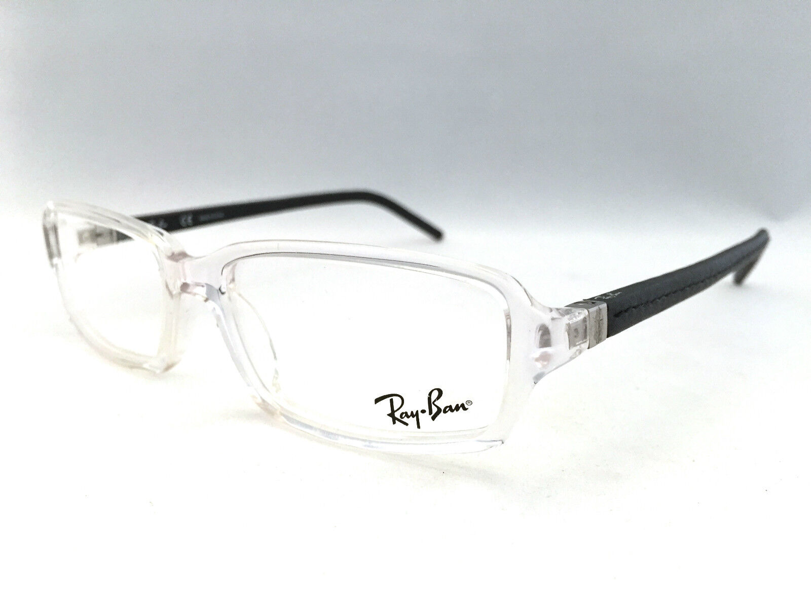 New Authentic Ray Ban RB 5132-Q 2161 Clear/Black 53mm Eyeglasses ...