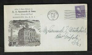 1939 Myerstown,PA - A. A. Spannuth & Sons Flour,Grain & Feed Advertising Cover