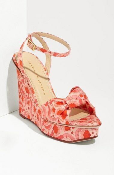 New Charlotte Olympia   Miranda  Wedge Sandal Dimensione 36 Eur   6 US  895  alla moda