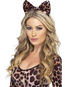 Cheetah-Bow-on-Headband-Adult-Womens-Smiffys-Fancy-Dress-Costume-Accessory