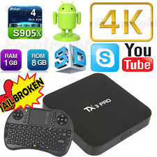 free Keyboard+TX3 PRO 4K S905x android tv box Quad Core Android6.0 Smart TV Box