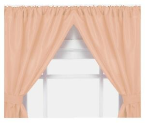 Image Is Loading Vinyl Bathroom Window Curtain 2 Panels With Tie