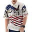 Mount Rushmore Mens Patriotic American Flag Polo Shirt 4th of July