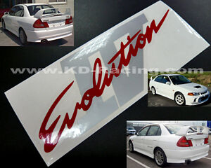 Details About Evo 4 Iv Rear Boot Stickers Decals Ralliart Lancer Evolution Free Shipping X 1