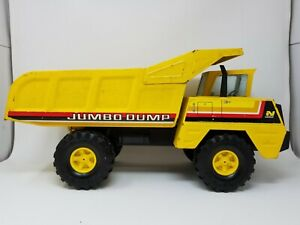 Vintage-16-034-Yellow-Metal-Nylint-Jumbo-Dump-Truck