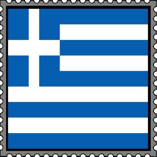 30 Custom Greek Flag Stamp Art Personalized Address Labels