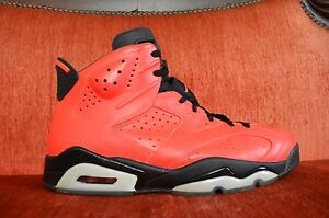 buy popular 8d195 6740c Image is loading Nike-Air-Jordan-6-Retro-Infrared-23-Toro-