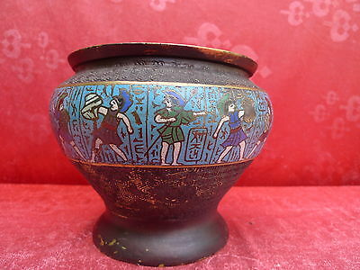 pretty,antique Container___cloisonne__greek Warrior__Bowl_Cachepot _