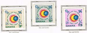 +ghana Space Astronomy Sun Exploration Rare Set 1965 Mnh