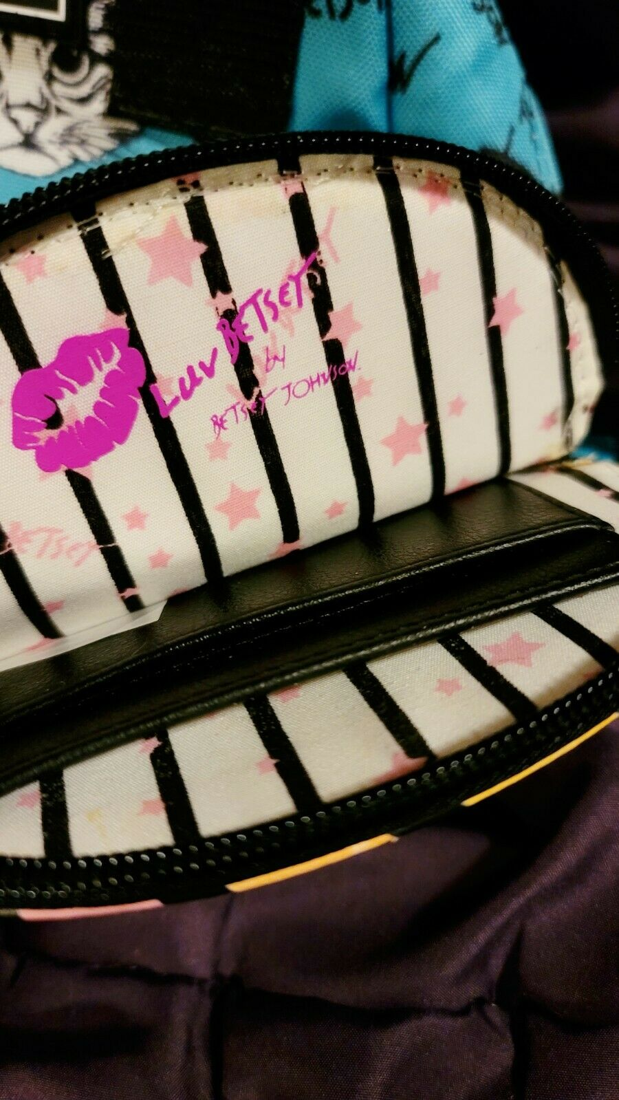 Betsey Johnson Cat-Themed Bag + Coin Purse - image 3