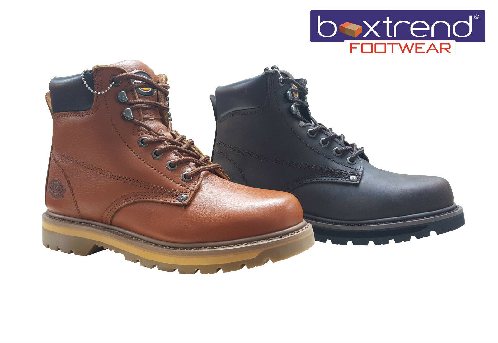 NEW Hombre UP DICKIES WELTON NON SAFETY ANKLE LEATHER LACE UP Hombre HIKING Botas Zapatos Talla 00d46a