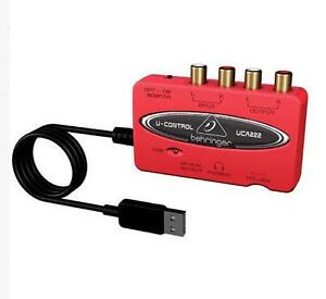 NEW U-CONTROL UCA222 USB-Audio Interface Adapter Red with Box TL