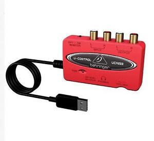 NEW U-CONMTOL UCA222 USB-Audio Interface Adapter Red with Box MT