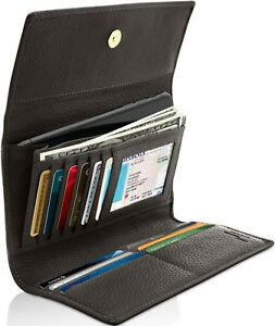 Genuine-Leather-Wallets-For-Womens-Ladies-Trifold-Clutch-Wallet-RFID-Blocking