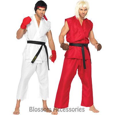 Street Fighter Ryu Adult Men/'s Costume White Karategi Gi Fancy Dress Leg Avenue