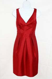 HOBBS-Red-Smart-Formal-Special-Occasion-Sleeveless-Pencil-Dress-Uk-12