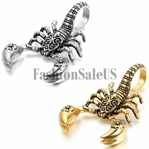 Para Hombre De Niño De Acero Inoxidable Scorpion King Cool Colgante Collar Cadena Silver//Gold