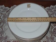11  HutschenReuther Bavaria Selb  China  Plates Monogram B Hand Painted READ!!!