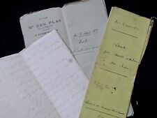 Antique French Handwritten Document Lot Gorgeous Handwriting Calligraphy