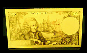 BILLET-POLYMER-034-OR-034-DU-10-FRANCS-VOLTAIRE-DESTOCKAGE-REF1