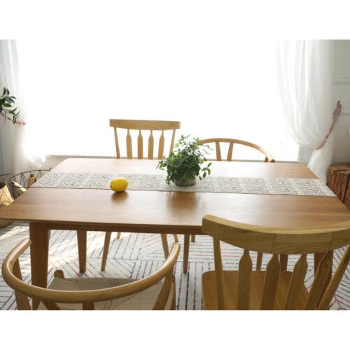 Retro Cotton Crochet Lace Tassels Macrame Table Runner Home Wedding Table Decor