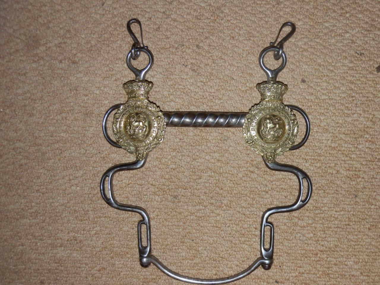 RARE ANTIQUE VICTORIAN BOSSES MILITARY BUXTON DRIVING HORSE BIT .(ROYALTY)