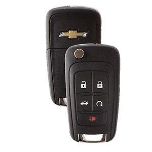 Gm Key Fob >> Details About New Flip Key Keyless Entry Remote Fob For Chevrolet 5 Button With Remote Start