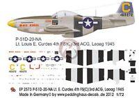 Peddinghaus 1/72 P-51d-20na Mustang bad Angel Markings Louis Curdes Laoag 2573
