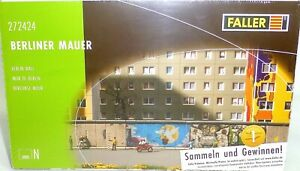 Berliner-Mur-Wall-Kit-120x13x23mm-faller-272424-N-1-160-Emballage-D-039-Origine-A