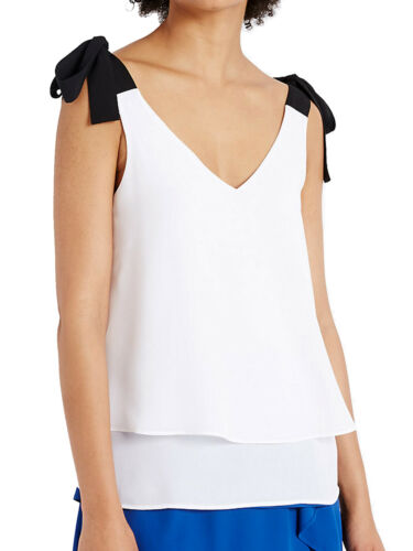 Size 8 to 22 NEW EX M/&S WHITE Double Layer V-Neck Vest Top