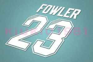 e01893bfa Image is loading Liverpool-Fowler-23-1995-1996-Homekit-Nameset-Printing