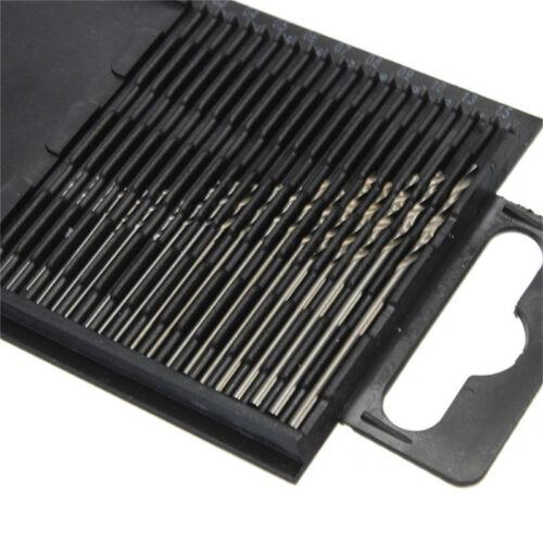 20 Stücke Mini Micro Spiralbohrer HSS Set Stahl 0,3mm-1,6mm Handwerk Fall SaDE